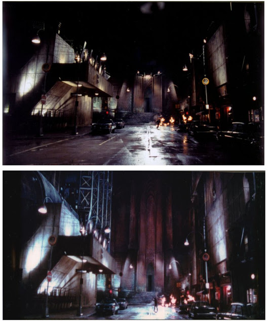 before after Batman cathedral